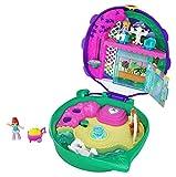 Polly Pocket Coffret Univers Le Jardin aux Coccinelles avec mini-figurines Polly et Lila, autocollants et surprises, jouet enfant, édition 2020, GKJ48