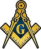 ProSticker 001 (Four Pack) 3' Masonic Series Freemason Compass Square Decal Sticker
