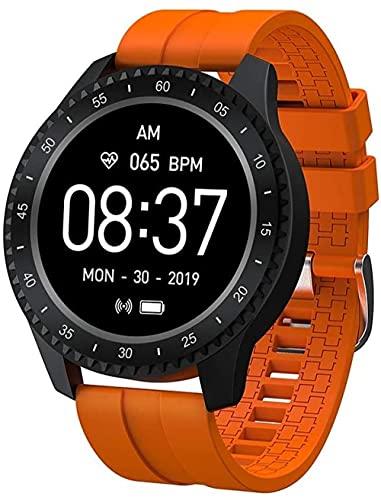 Reloj inteligente, rastreador de fitness deportivo, reloj inteligente impermeable, recordatorio de información cargada, adecuado para niños, niñas y niños-naranja