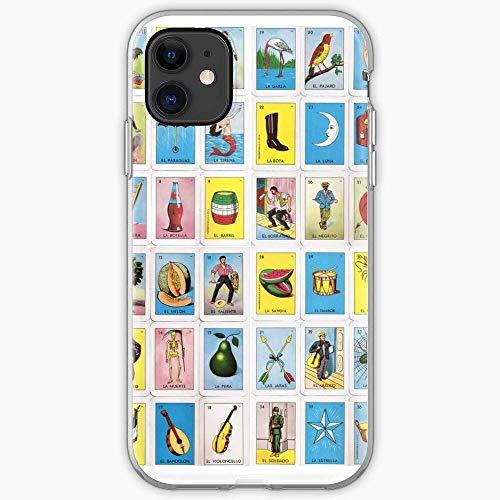 Roadiress Loteria La Mexico Bingo Chicano Mexican Lotery Compatible con iPhone 12/12Pro MAX 12 Mini 11 Pro MAX XR XS/XsMax SE 2020 7 8 6/6s Plus Huawei Samsung Series Funda Protectora