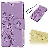 bq Aquaris E5s/E5 4G LTE Funda Libro de Cuero Impresión Suave PU Leather Carcasa Con Flip Case Cover Gel TPU,Función...