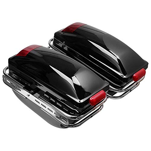 Motorcycle Side Boxs Luggage Tank Bag Hard Case Saddle Bags Universal For Cafe Racer Fit For Kawasaki Fit For Honda Fit For Yamaha Fit For Suzuki