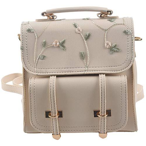 TOOGOO Fashion School Backpack Teenage Girls Leather Women Shoulder Bag Backpack Floral Embroidery Design Rucksack