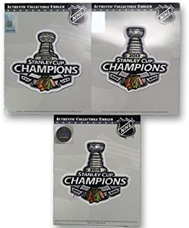 2010, 2013 & 2015 Stanley Cup Finals Champions Patch Chicago Blackhawks Combo