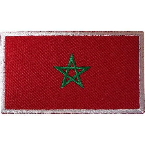 Marokko-Flagge zum Aufbügeln, marokkanischer jüdischer Stern, Pentagramm, besticktes Abzeichen