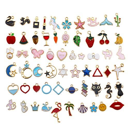 60 stks Emaille Bedels Hangers Vindingen Verschillende Set Craft Supplies voor Ketting Armband Enkel Oorbel Sieraden DIY Maken