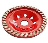 Aerzetix - Disco diamantato a levigare smerigliatrice 125 mm 22.23 mm per cemento pietra mattone