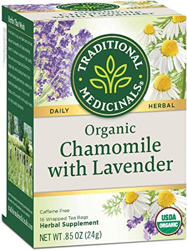 Traditional Medicinals Organic Chamomile With Lavender Herbal Tea, 0.85 Ounce (Pack Of 2)