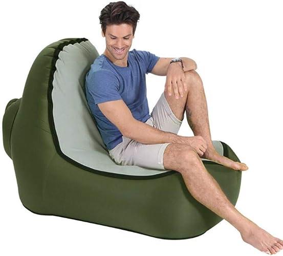 Canapé Gonflable Chaise Longue Gonflable Air Sofa portable Lit de Couchage Imperméable Gonflable Chaise avec Sac de Transport pour Intérieur et Extérieur Randonnée Camping Plage Jardin Voyage
