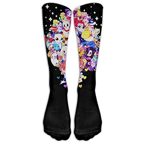 Clown Clip Art Design Elastic Blend Long Socks Compression Knee High Socks for Sports 50cm