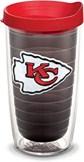 مصد حراري فردي مع غطاء الدوري الوطني لكرة القدم من ترفيس, NFL Kansas City Chiefs, 16oz