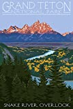 Grand Teton National Park, Wyoming, Snake River Overlook (9x12 Art Print, Wall Decor Travel Poster)