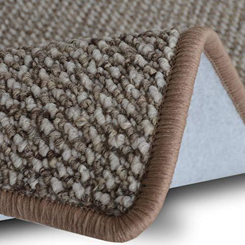 casa pura Teppich Läufer Carlton | Flachgewebe dezent Gemustert | Teppichläufer in vielen Größen | als Küchenläufer, Flurläufer | mit Stufenmatten kombinierbar (Beige - 66x100 cm)