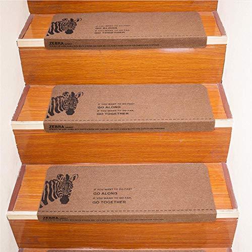 JKlazy Treppenmatte Zebra Selbstklebende Matte Waschbar Pflegeleicht Ergonomic Technology Stufenmatten Set für Treppenstufen - 5 Stück