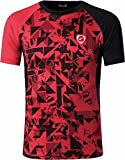 jeansian Hombre Camisetas Deportivas Wicking Quick Dry tee T-Shirt Sport Tops LSL193 Red S