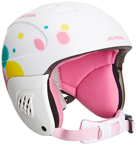 Alpina Kinder Skihelm Carat L.E., White Dots Matt, 48-52, 9042116