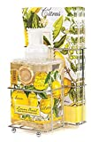 Michel Design Works Foaming Hand Soap and Napkin Caddy Set, Lemon Basil