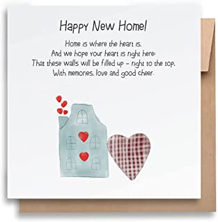 New Home Card – Where The Heart Is | With Envelope | Funny Greeting Card | Humorous New Home Card | Greeting Card for Ever...
