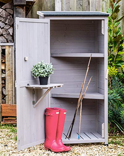 Wooden Small Shed Storage Tool Utility Stone Garden