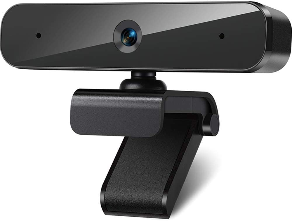1080P Webcam with Microphone, Web Camera for Computer PC Desktop Laptop 90° Wide Angle USB Streaming Webcam Plug and Play Multi-Compatible for Windows Mac OS, for Video Conference Recording Game