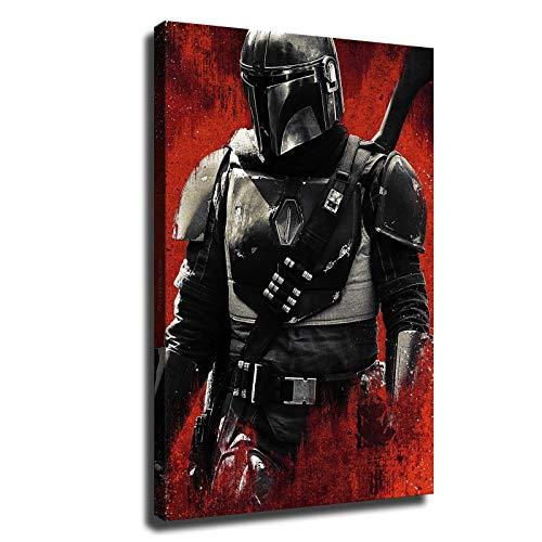 Star Wars Mandalorian Poster Boy Room HD Canvas Print Bedroom Wall Decor (28x42inch,No Frame)