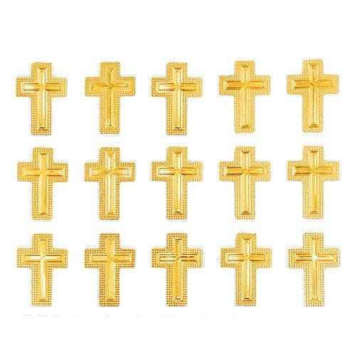 Oblique-Unique® Kreuz Sticker Aufkleber Set Gold Taufe Kommunion Konfirmation Hochzeit Deko