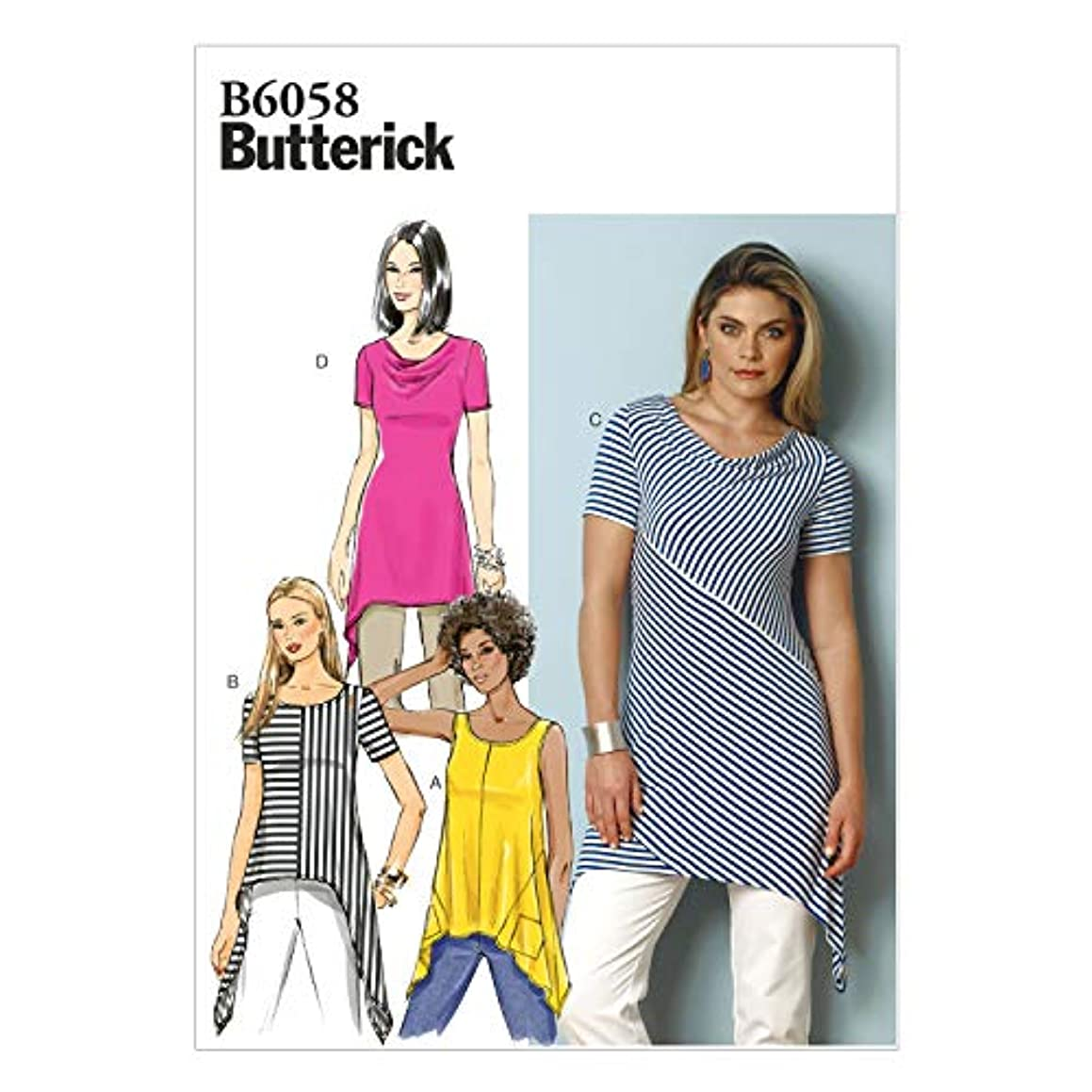BUTTERICK PATTERNS B6058 Misses' Tunic Sewing Template, Size A5 (6-8-10-12-14)