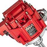Bravex High Performance Red Cap HEI Distributor for Chevy gm SBC 283 305 307 327 350 400 BBC 454 396 427 Small/Big Block 65k coil 7500RPM