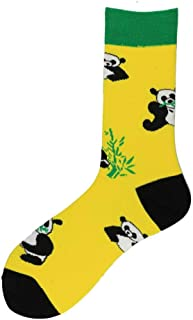 calcetín Moda 1 par de Calcetines de Hombre de algodón Harajuku Happy Funny Crew Calcetines Cartoon Animal Duck Dog Women Socks Novedad Regalo Skateboard