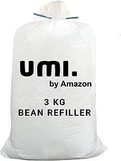 Amazon Brand - Umi.Premium 3 Kg Bean Bag Refill/Filler - White JOJ (3 kg Beans - 2100 Grams net Weight as per Indian Stand...