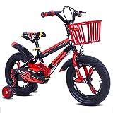 """MXSXN Bicicletta per Bambini Telaio in Lega di Magnesio 12 14 16 Ruota da 18 Pollici 2 3 4 5 6 7 8 Anni Ragazzo/Ragazza Bici Sportiva per Bambini,16"""""""
