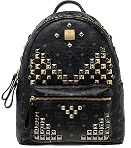 2014 Authentic MCM Stark Backpack Medium Size Black Color -MMK3AVE18BK image dffee13f40386