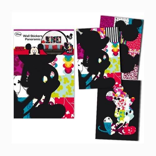 Mickey Patchwork Wandtattoo aus Vinyl Maße: 3 x 47 x 67 cm