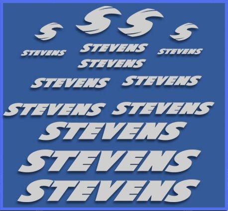 Ecoshirt 73-S8A0-QBNF stickers Stevens Dr1118 Vinyl Decal Sticker Decal Sticker MTB Fiets zilver