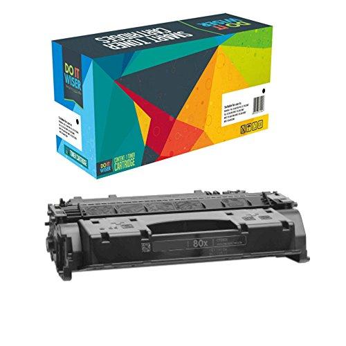Do it wiser kompatible Toner als Ersatz für HP CF280A HP 80A CF280X 80X HP Laserjet Pro 400 M401dn M401a M401d M401dne M401dw M401n M425dn M425dw MFP (Schwarz)
