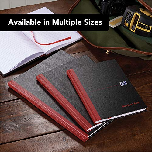 Oxford Black n' Red, A4 Notebook Hardcover, Casebound, Lined, 192 Page, 1 Notebook