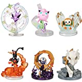 6 Pz / Set Cartoon Cubone Litten Rowlet 10 Cm Espeon Jigglypuff Absol Action Figure Giocattoli Anime Pokemones Figura Bambole Regali