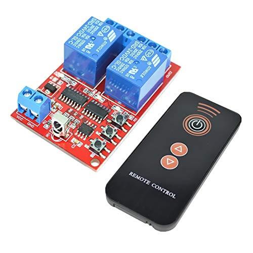 HYY-YY 24V 2-channel Radio Remote Control Module With Black Remote Controls