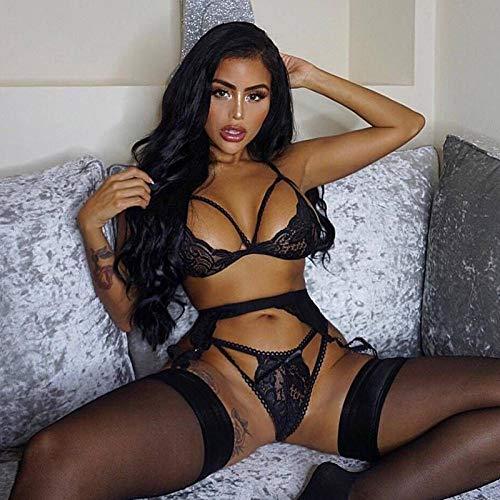 WTFYSYN Interior Atractiva Ropa de Dormir de TentacióN,Ropa Interior de muñeca Porno, Vestido de Calcetines Sexy-Negro_L,Ropa Interior Atractivo Babydol Lenceria Sexy