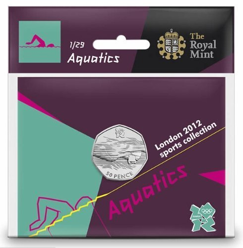 London 2012 50p Sports Collection - Aquatics by Royal Mint