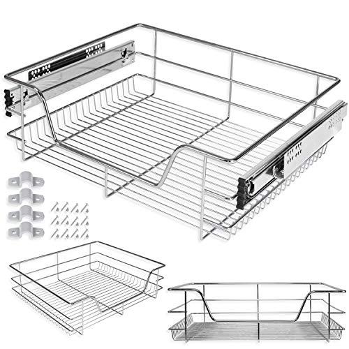 Kesser® Teleskopschublade 2x 60 cm ✓ Küchenschublade ✓ Küchenschrank ✓ Korbauszug ✓ Schrankauszug ✓ Vollauszug ✓ Schublade