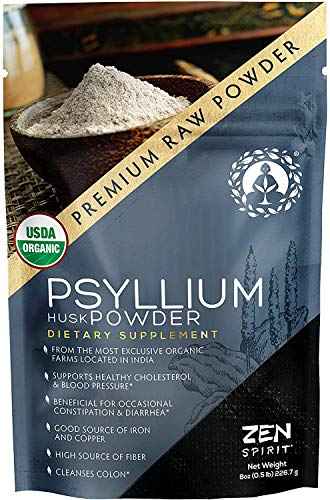 Organic Psyllium Husk Powder, Perfect for Keto Baking Flour & Cooking - Non-GMO Dietary Fiber (8oz)