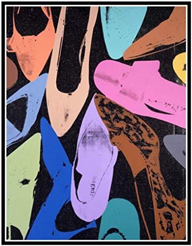 YUMKNOW Impression sur Toile 50x70cm sans Cadre Andy Warhol Shoe Bright, Shoe Light, Première Chaussure Que J'Ai Vue ce Soir Pop pour Le Salon