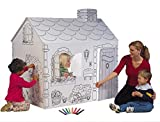 """My Very Own House Cardboard Coloring Playhouse Cottage, 49""""H x 36""""L x 55""""W"""