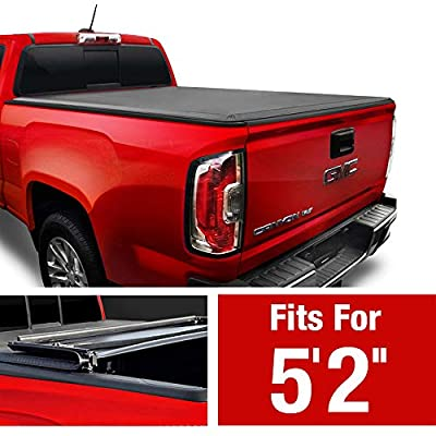 """MaxMate Soft Tri-Fold Truck Bed Tonneau Cover Compatible with 2015-2020 Chevy Colorado/GMC Canyon 