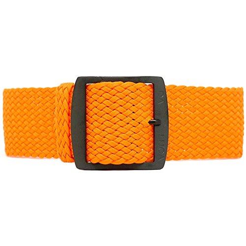 Fibbia cinturino Perlon Daluca–arancione (PVD): 20mm