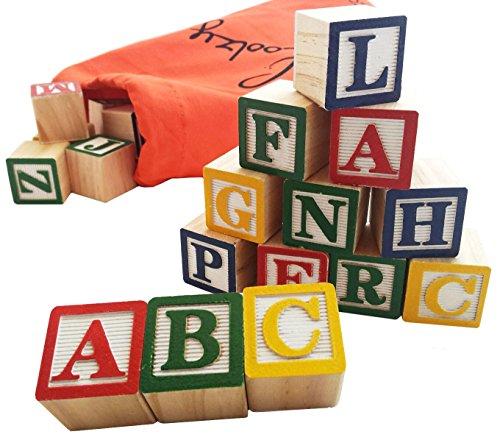 Skoolzy ABC Wooden Blocks for...