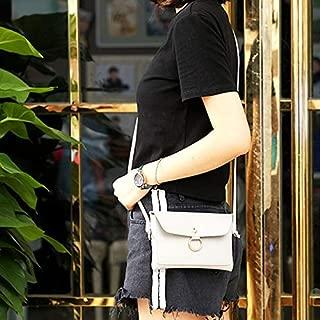 WTYD Single Shoulder Bag Leisure Fashion PU Leather Slant Shoulder Bag Handbag(Black) (Color : White)
