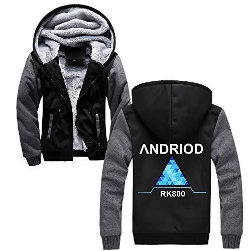 Detroit Become Human Confortable Sweat-Shirt à Capuche avec Polaire Coat Décontractée Fashion Confortable avec Zip Hooded Manteau Loisir Hooded Pullover
