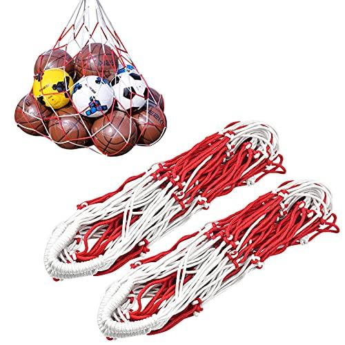 2 Pezzi Rete per Palloni, Calcio Rete Portapalloni, Grande Borsone in Rete Sacca a Sfera per Basket Pallavolo, per 10-15 Palloni